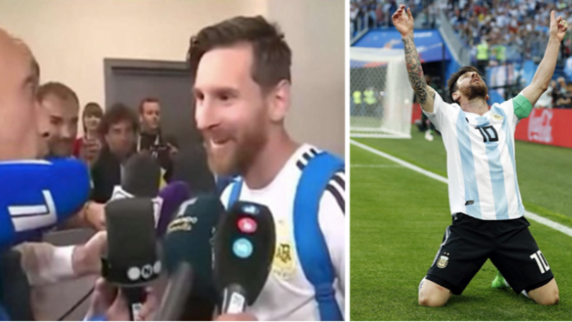 Lionel Messi Stuns Argentine Reporter With Beautiful Gesture After Nigeria Game
