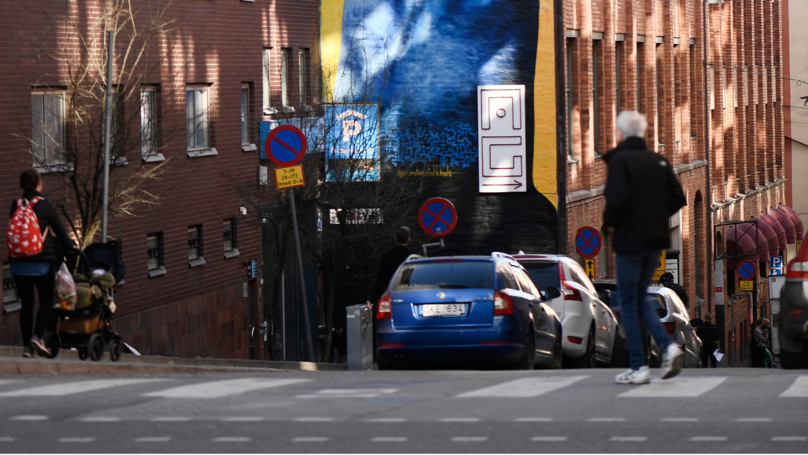 ​Giant, Blue Five-Storey Penis Offends Residents In Stockholm