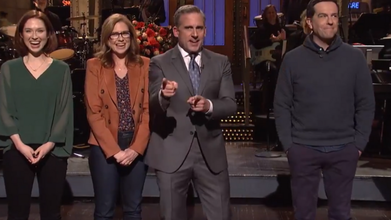 'The Office' Stars Reunite On Saturday Night Live To Ask Steve Carell To Do A Reboot