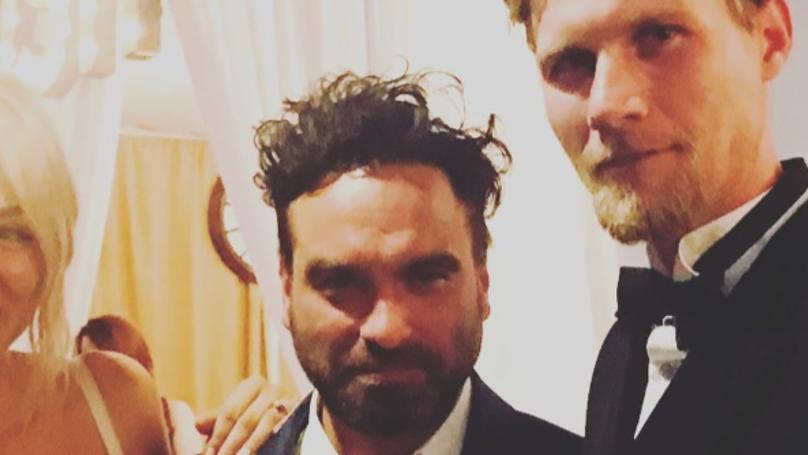 'Big Bang Theory' Star Johnny Galecki Crops Kaley Cuoco Out Of Wedding Snap