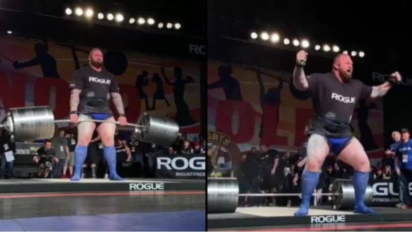 Game Of Thrones Star 'The Mountain' Breaks His Own Deadlifting Record