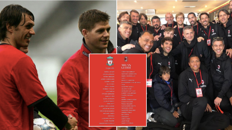 The Line-Ups For AC Milan vs Liverpool Legends Game Are Glorious