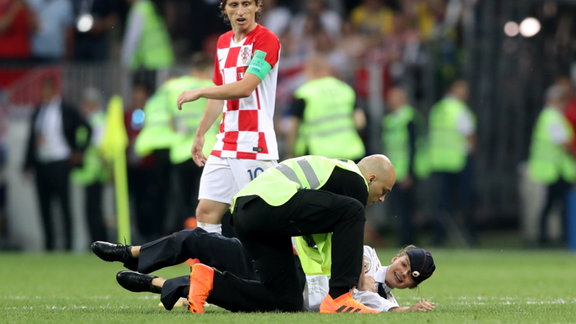 The World Cup Final Pitch Invaders Are Getting A Lot Of Attention