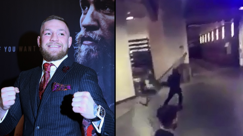 Conor McGregor Allegedly Tried To Throw Railing At Bus After Altercation
