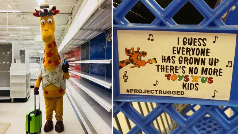 Photo Of Geoffrey The Giraffe Leaving Toys R Us Is Heartbreaking