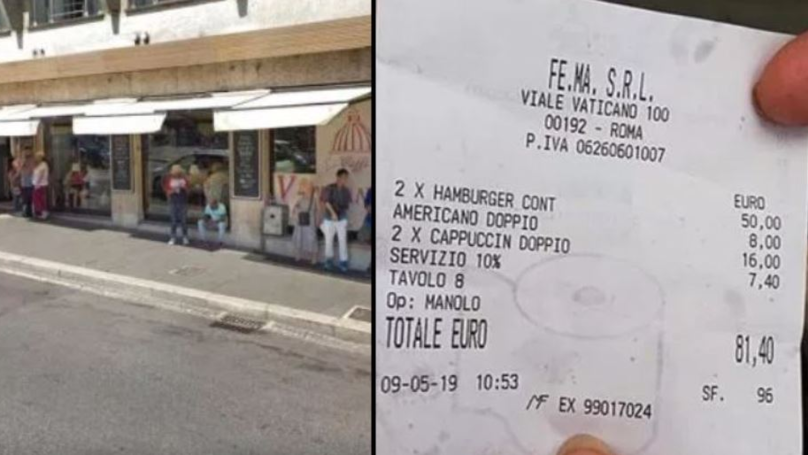 Restaurant Charges Tourists £70 For Two Burgers And Three Coffees
