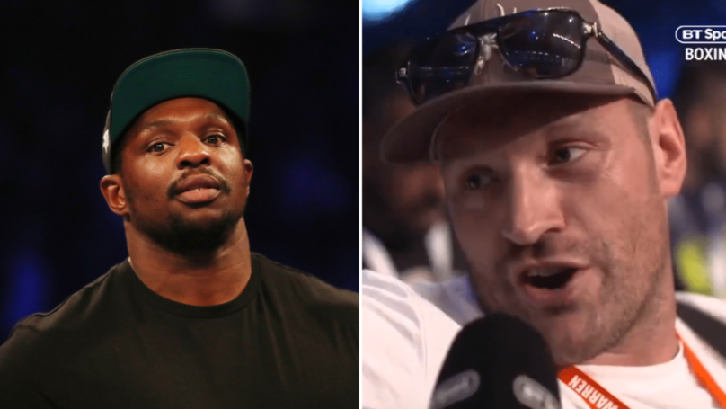 Tyson Fury Hilariously Responds To Dillian Whyte's Outrageous Sparring Claims