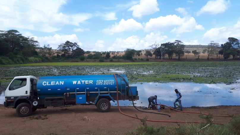 African Man Delivers Thousands Of Litres Of Water To Drought-Stricken Animals