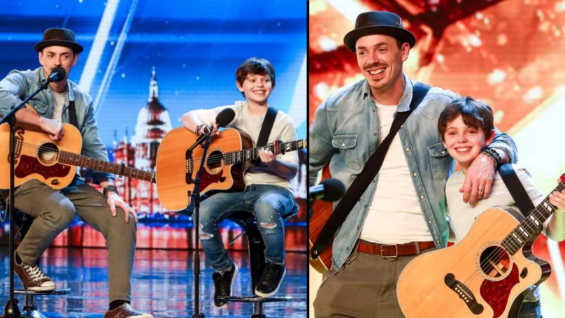 Father And Son Singing Duo Get Simon's Golden Buzzer On BGT