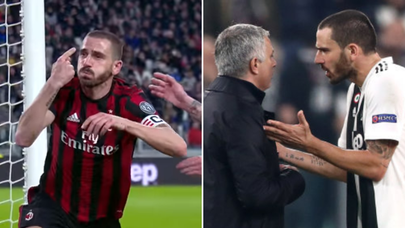 Manchester United Fans Recall How Leonardo Bonucci Celebrated His Goal Vs. Juventus