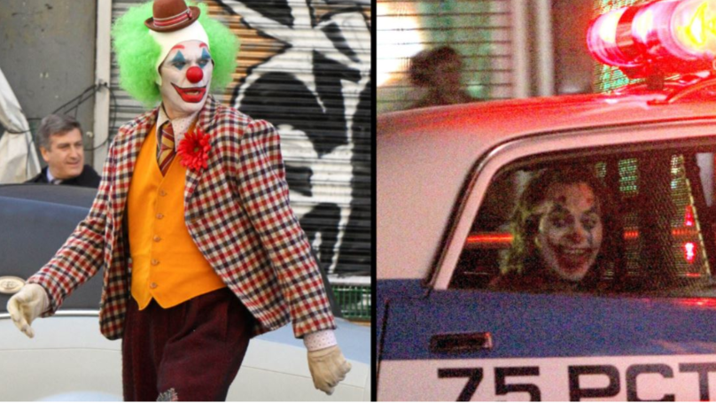New Photos Emerge Of Joaquin Phoenix In Clown Costume On Set Of 'The Joker'