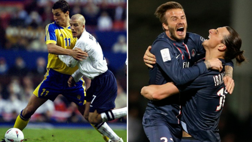 David Beckham Makes Sure Zlatan Ibrahimovic Hasn't Forgotten About Their Bet