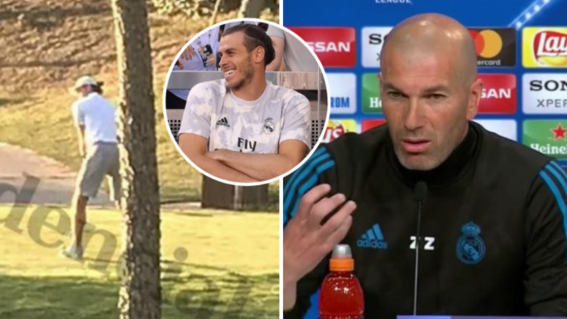 Zinedine Zidane Reacts To News Gareth Bale Was Playing Golf While Real Madrid Lost To Spurs