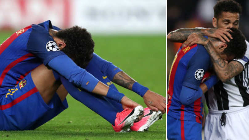 Dani Alves Reveals What He Said To Neymar While Consoling Him