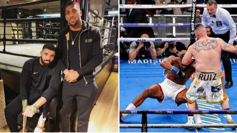The 'Drake Curse' Strikes Again As Anthony Joshua Is Beaten By Andy Ruiz