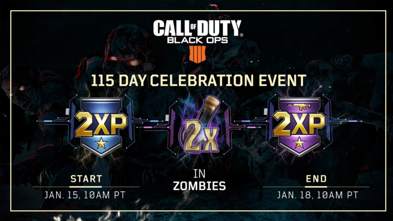 ​'Call Of Duty: Black Ops 4' Celebrates 115 Day With Zombie Gauntlets, Double XP