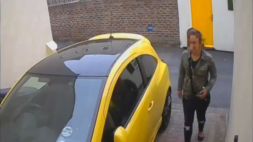 Students Catch Shameless Woman On CCTV Taking Massive Dump On Their Driveway