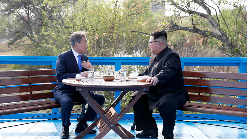 Lip Readers Study Conversation Between Kim Jong Un And Moon Jae-In