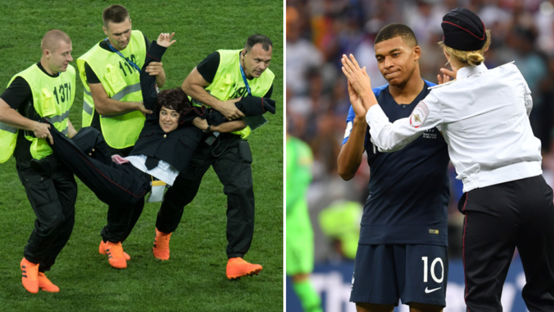 World Cup Final Pitch Invaders Receive Punishment For Protest