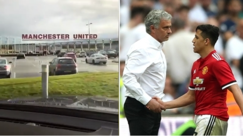 Manchester United's Alexis Sánchez Drove Into Carrington Playing One Song