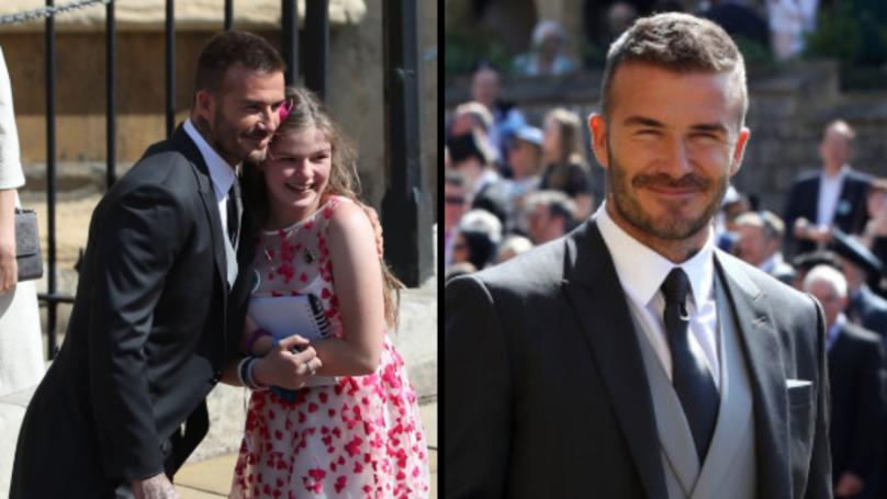 Manchester Arena Bombing Survivor Says Hugging David Beckham Was 'Best Bit' Of Royal Wedding