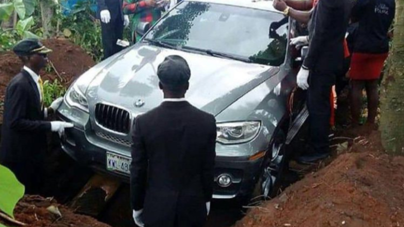 Man Buries His Dad In Brand New BMW