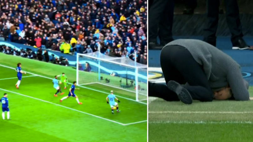 Pep Guardiola's Reaction To Sergio Aguero's 'Miss Of The Season' Contender Is Priceless