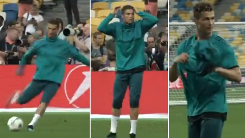 Cristiano Ronaldo Hits Cameraman With Stray Shot, He Apologised, Gifted Him His Jacket