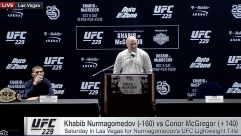 Conor McGregor Turns Up Late For Khabib Nurmagomedov Press Conference, Calls Manager A 'Terrorist'