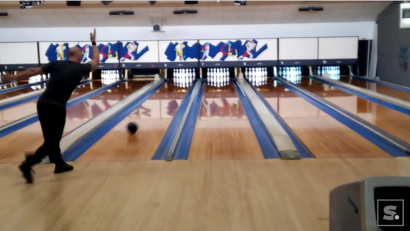 Man Films Himself Smashing A Perfect Game Of Bowling In A Ridiculous Time