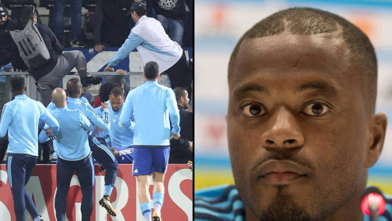 Patrice Evra Kicks Fan In Head Ahead Of Marseille Game