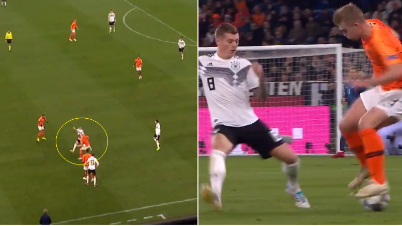 19-Year-Old Matthijs de ligt Ruins Toni Kroos With Outrageous Piece Of Skill