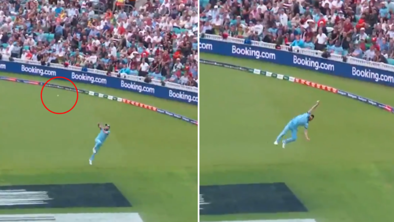 Ben Stokes Takes Incredible Catch In Cricket World Cup Opener