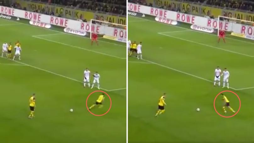 Guerreiro And Reus' Brilliant Free-Kick Routine Opens Scoring For Borussia Dortmund Against Werder Bremen