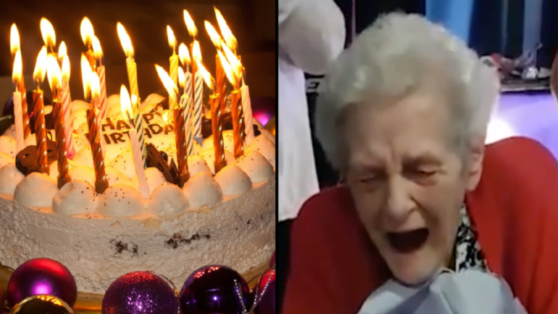 90-Year-Old Granny Gets Presented With Squirting Penis Cake At Birthday Party
