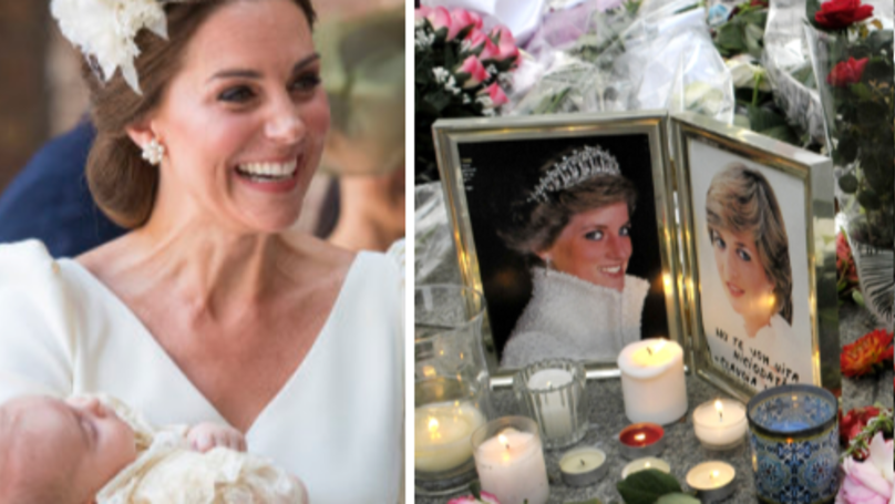 Prince William And Kate Middleton Pay Tribute To Princess Diana At Son's Christening