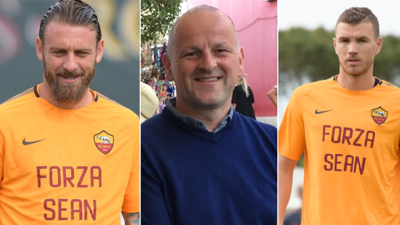 AS Roma Train In Personalised Shirts Dedicated To Liverpool Fan Sean Cox