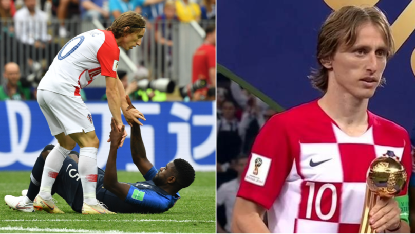 Luka Modric Wins World Cup Golden Ball Award And His ...