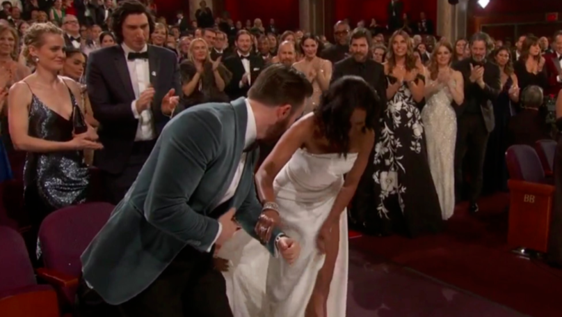Chris Evans Just Escorted Regina King To Collect Her Oscar And Twitter Is Swooning