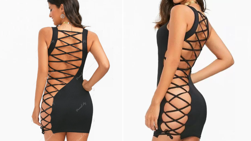 Mumsnet Users Slam 'Almost Naked' Lace Up Dress Online