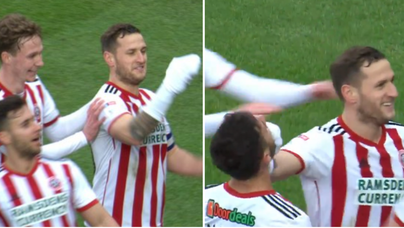 Billy Sharp Produces Incredible 'Mr Socko' Celebration In Tribute To WWE Legend Mick Foley
