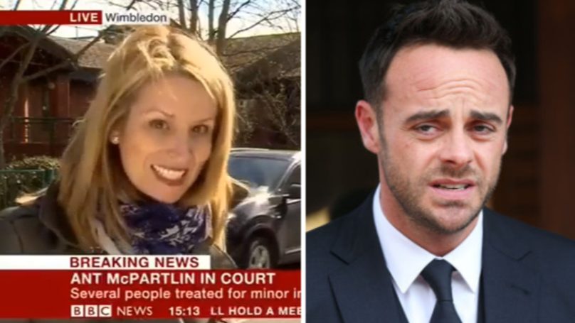 WATCH: News Report Captures Collision Outside Ant McPartlin's Drink Drive Hearing
