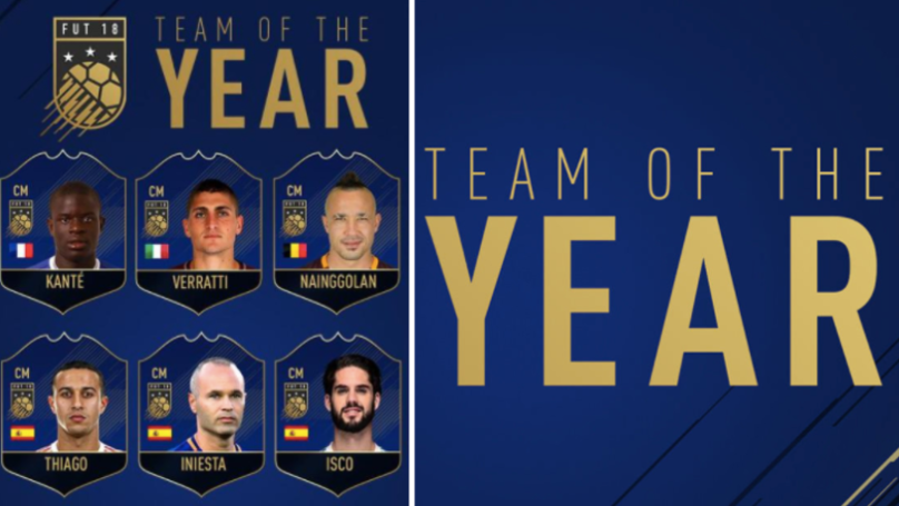 One Of World's Most In-Form Players Is Not Included In FIFA 18's Team Of The Year Shortlist
