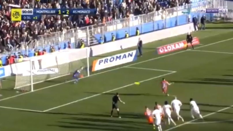 AS Monaco's Danijel Subasic Produced One Of The Most Unluckiest Penalty Save Attempts