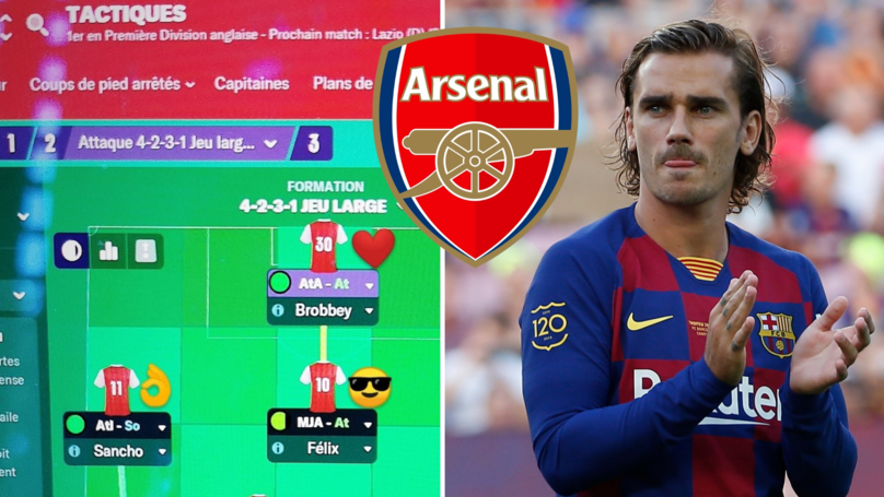 Antoine Griezmann Drops First Look At His 'Arsenal 2023' Team In Football Manager 2019