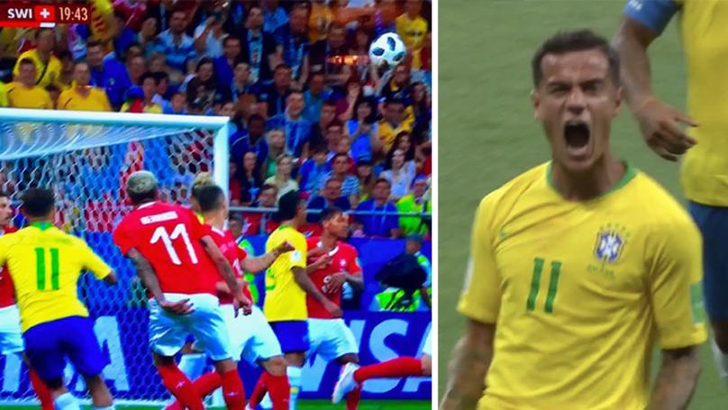 Philippe Coutinho Scores Stunning Long Range Goal To Put Brazil Ahead