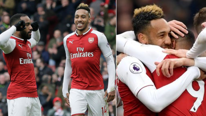 What Pierre-Emerick Aubameyang Did After Alexandre Lacazette Scored Penalty