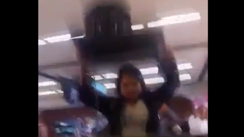 Woman Smashes Up Check-In Desk Computer After Missing Flight