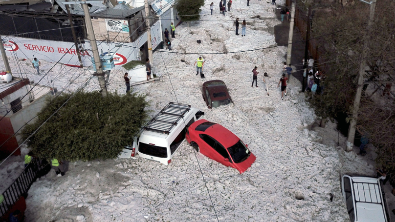 Mexican City Buried In Five Feet Of Hail Following Sudden Storm