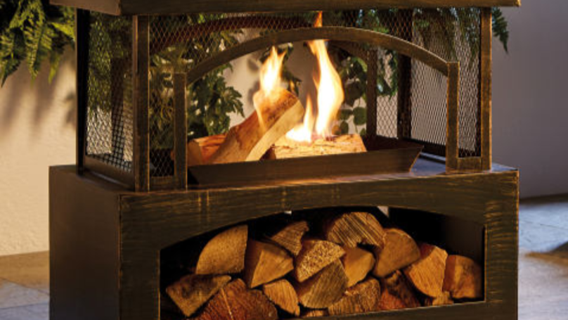 Aldi's Bargain Outdoor Log Burners Go On Sale In Stores This Week